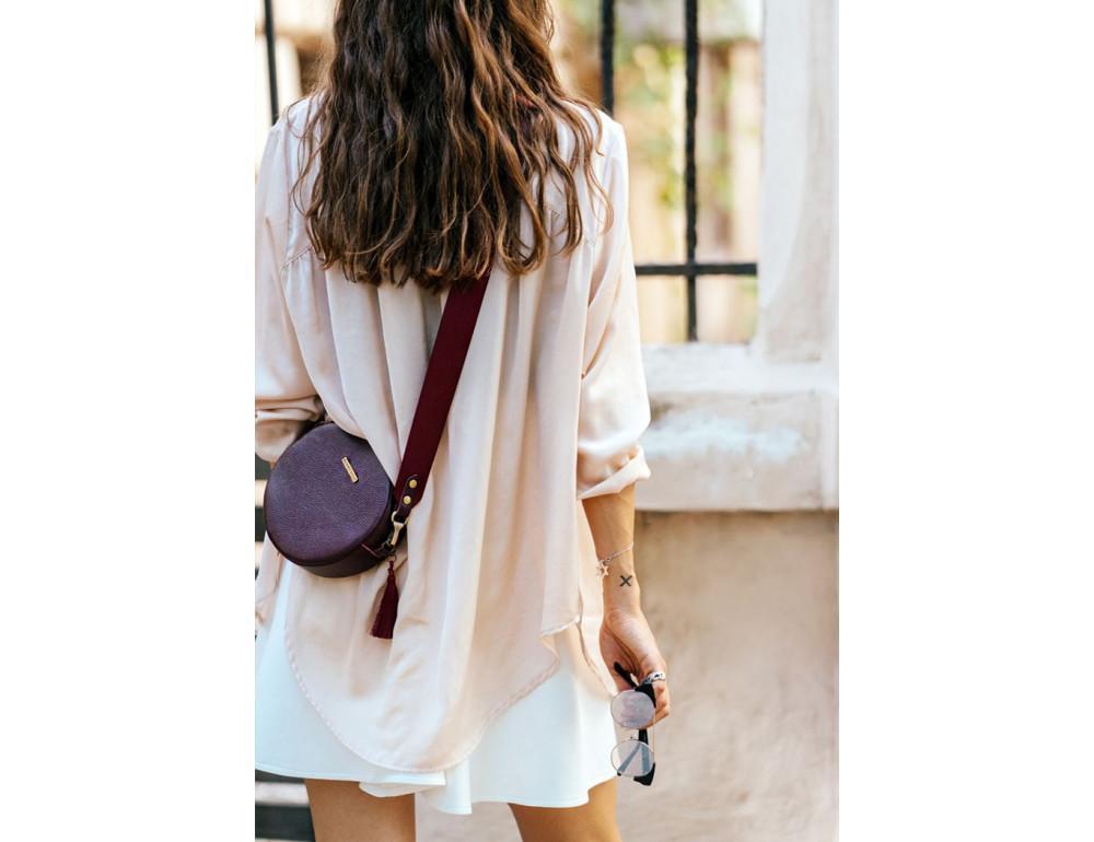 Женская круглая сумочка Tablet BN-BAG-23-marsala марсала - Фото № 8