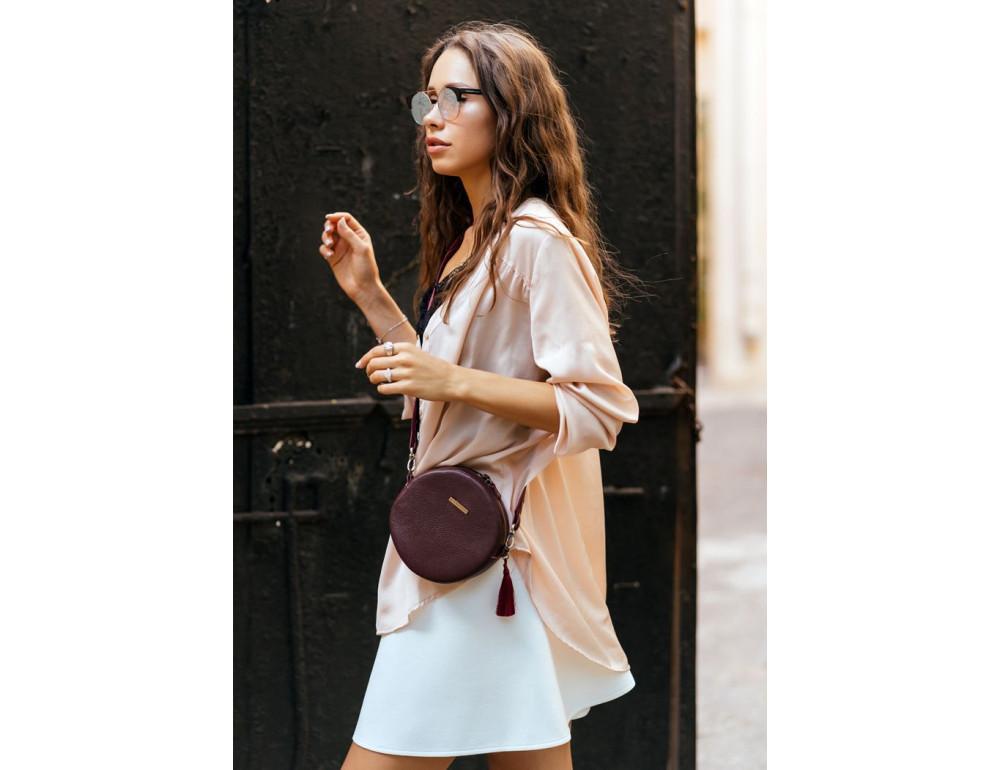 Женская круглая сумочка Tablet BN-BAG-23-marsala марсала - Фото № 9