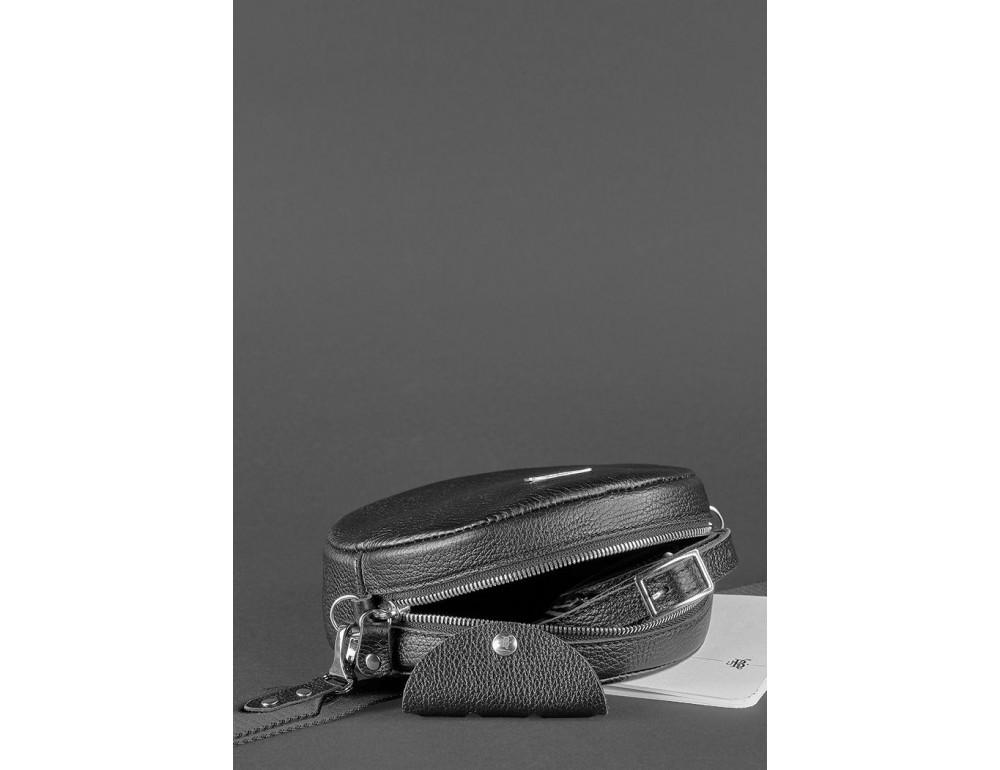 Женская круглая сумочка Tablet BN-BAG-23-onyx черный - Фото № 5