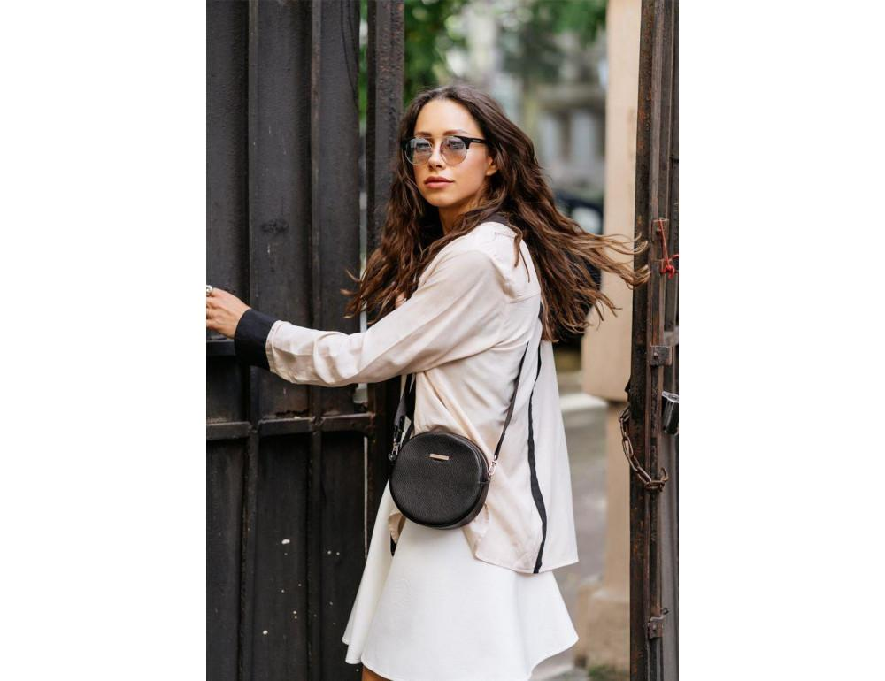 Женская круглая сумочка Tablet BN-BAG-23-onyx черный - Фото № 6