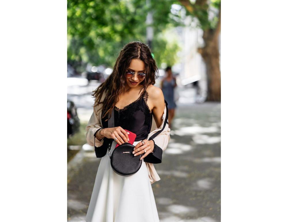 Женская круглая сумочка Tablet BN-BAG-23-onyx черный - Фото № 8