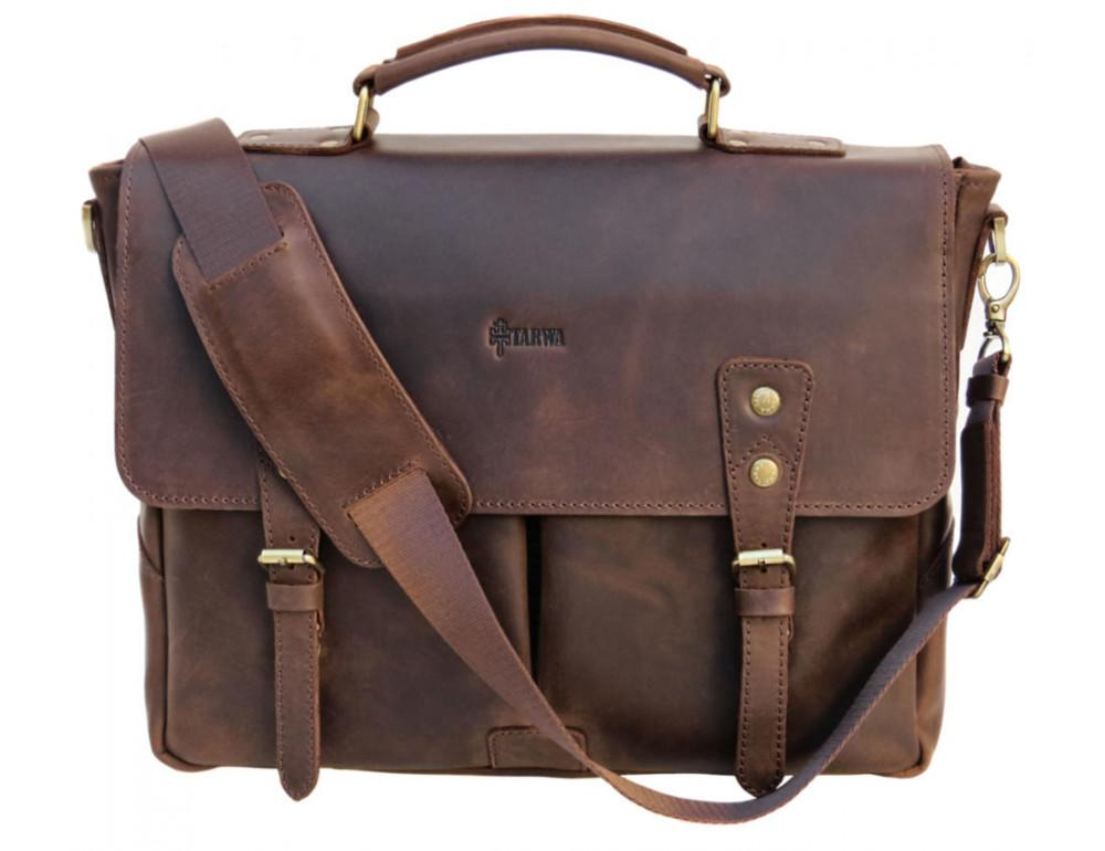 Коричневый мужской портфель TARWA RС-3960-4lx - Фото № 1