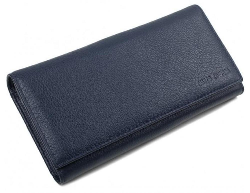 Синий кожаный кошелек MARCO COVERNA mc1415-3