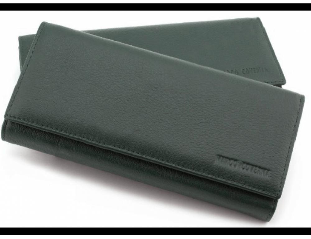 Зелений шкіряний гаманець MARCO COVERNA mc1415-7 green