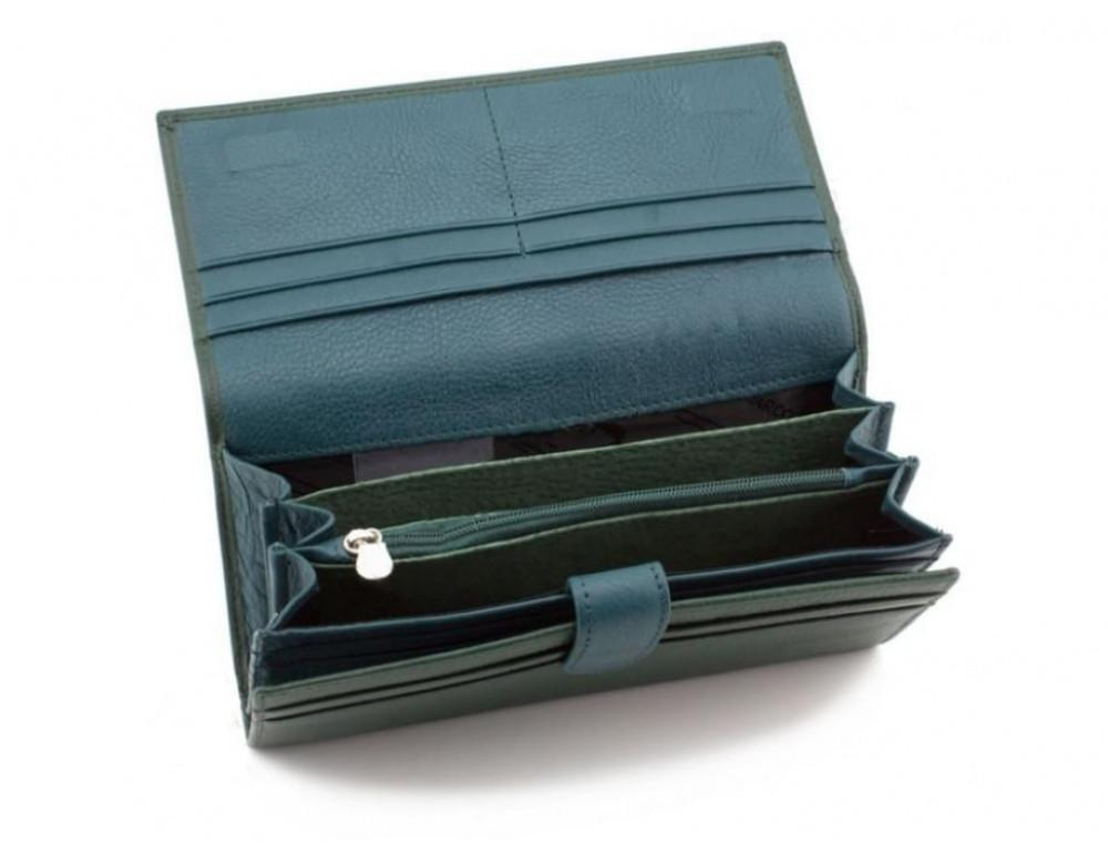 Зелёный кожаный кошелек MARCO COVERNA mc1415-7 green - Фото № 3