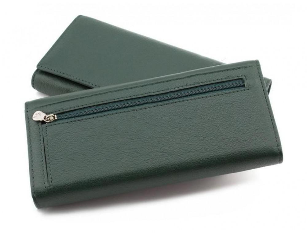 Зелёный кожаный кошелек MARCO COVERNA mc1415-7 green - Фото № 4