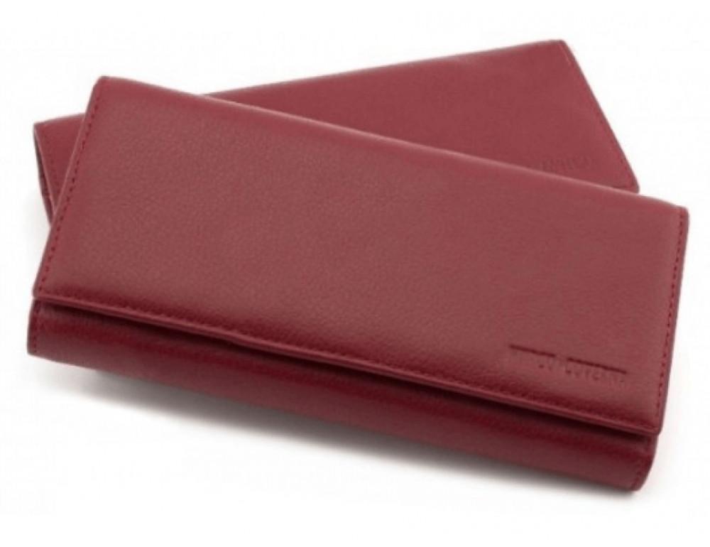 Бордовый кожаный кошелек MARCO COVERNA mc1415-4