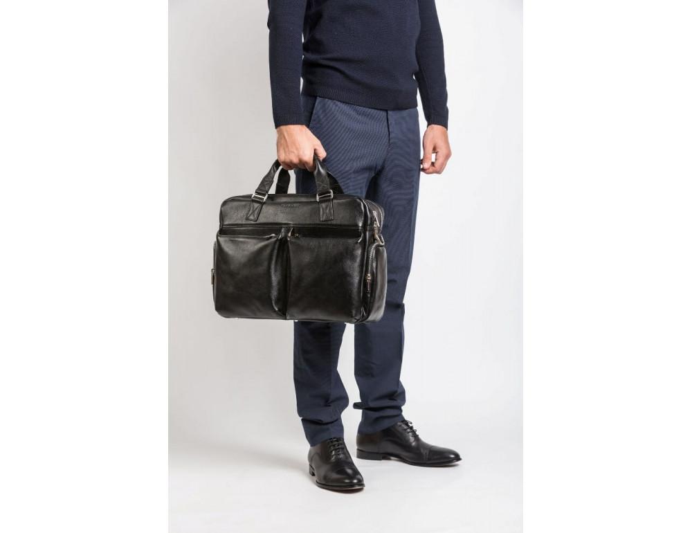 Мужская кожаная сумка Blamont Bn002A - Фото № 3