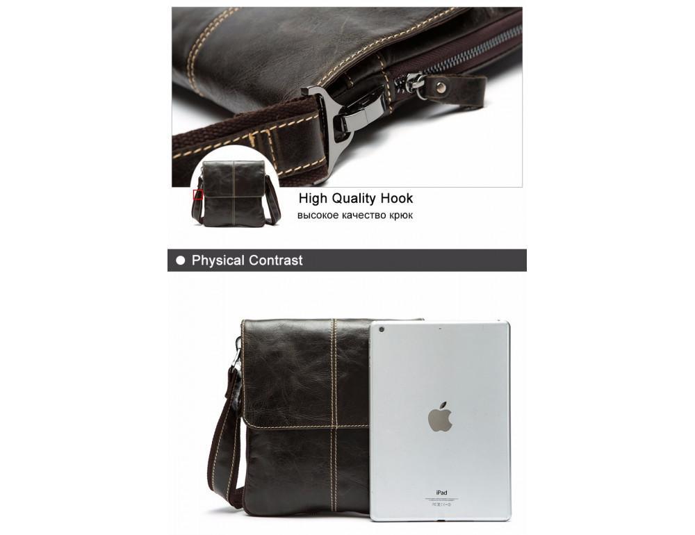 Вінтажна чоловіча сумка через плече Bexhill Bx8006G - Фотографія № 2