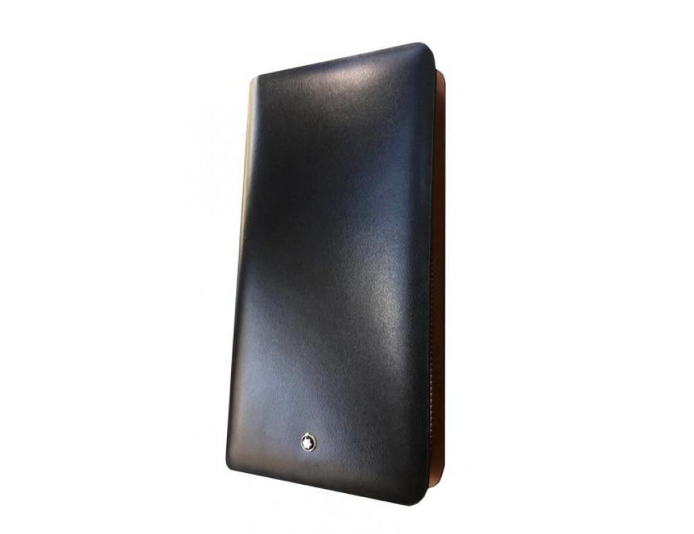 Кожаный клатч Montblanc Wallet11-5551 - Фото № 2