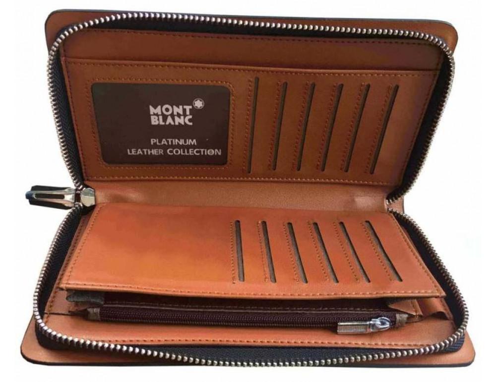 Кожаный клатч Montblanc Wallet11-5551 - Фото № 5