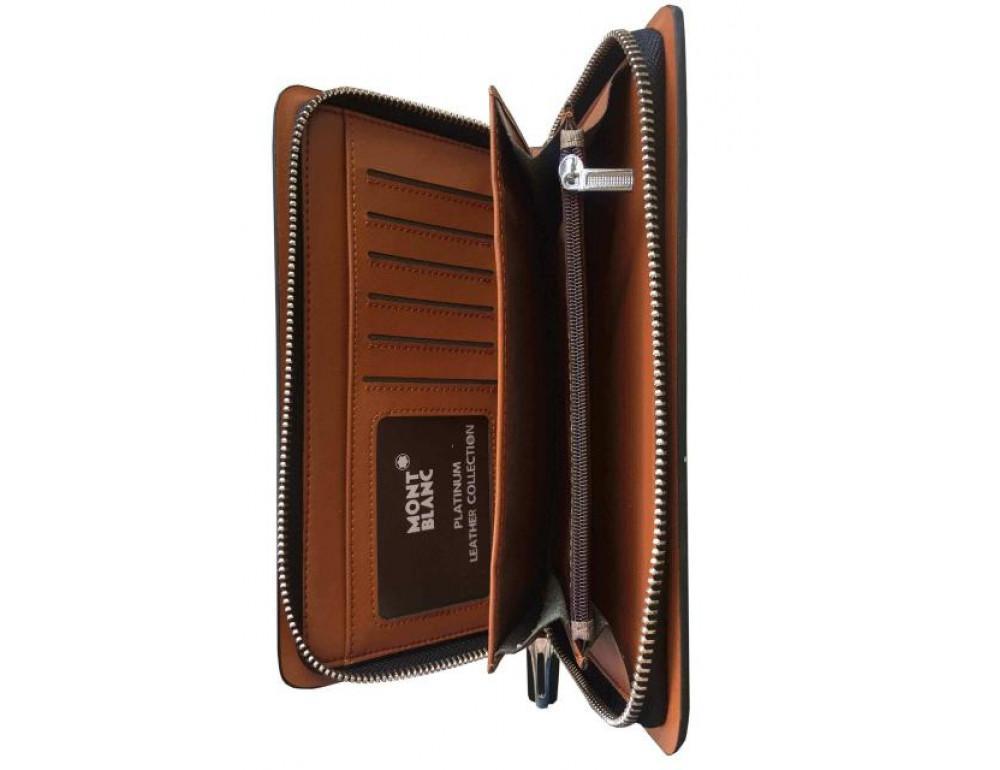 Кожаный клатч Montblanc Wallet11-5551 - Фото № 6