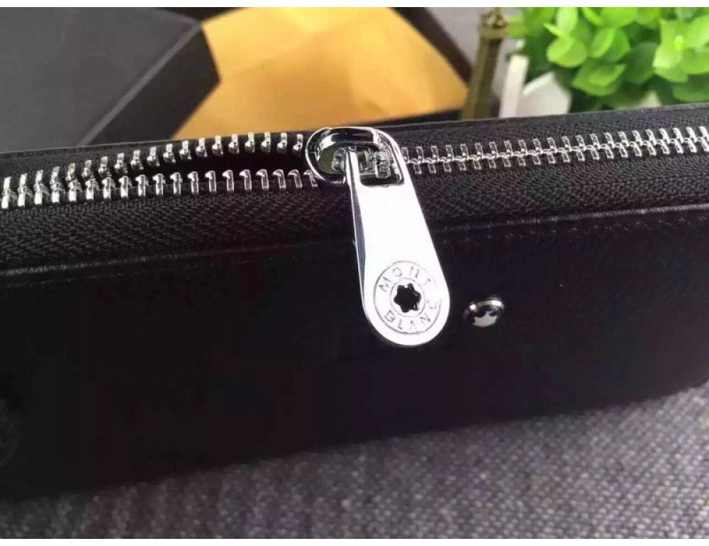 Кожаный клатч Montblanc Wallet4-2664 - Фото № 3