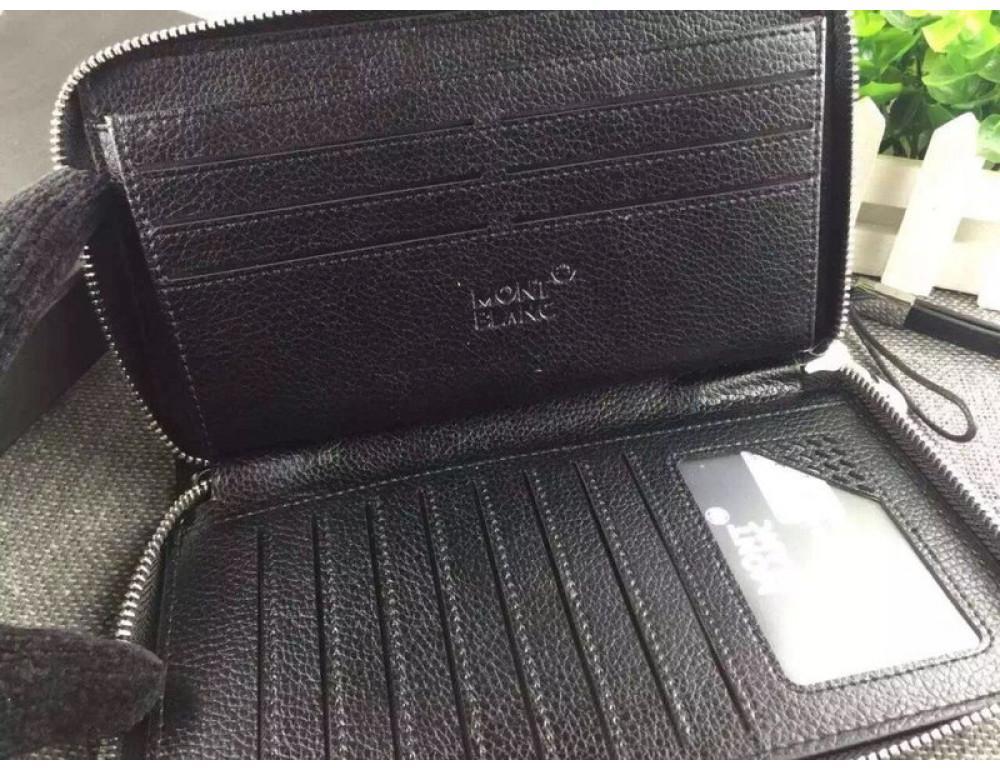 Кожаный клатч Montblanc Wallet4-2664 - Фото № 4
