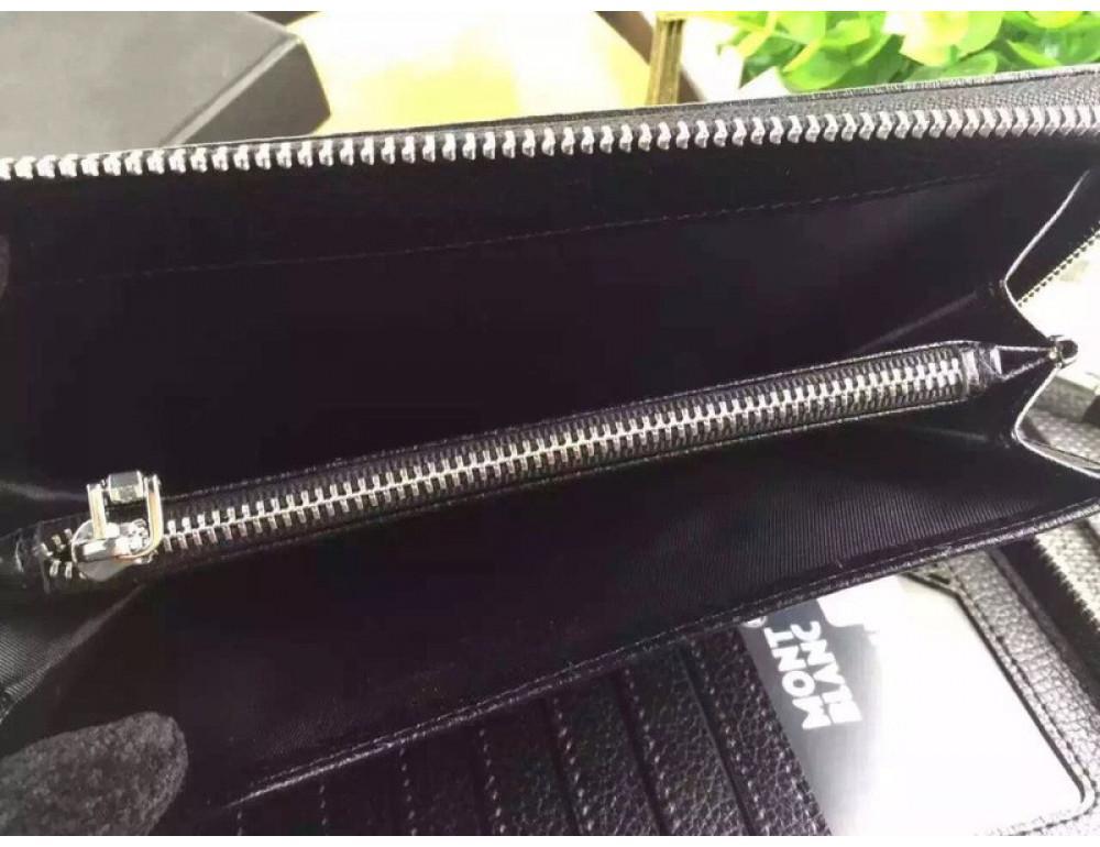 Кожаный клатч Montblanc Wallet4-2664 - Фото № 5