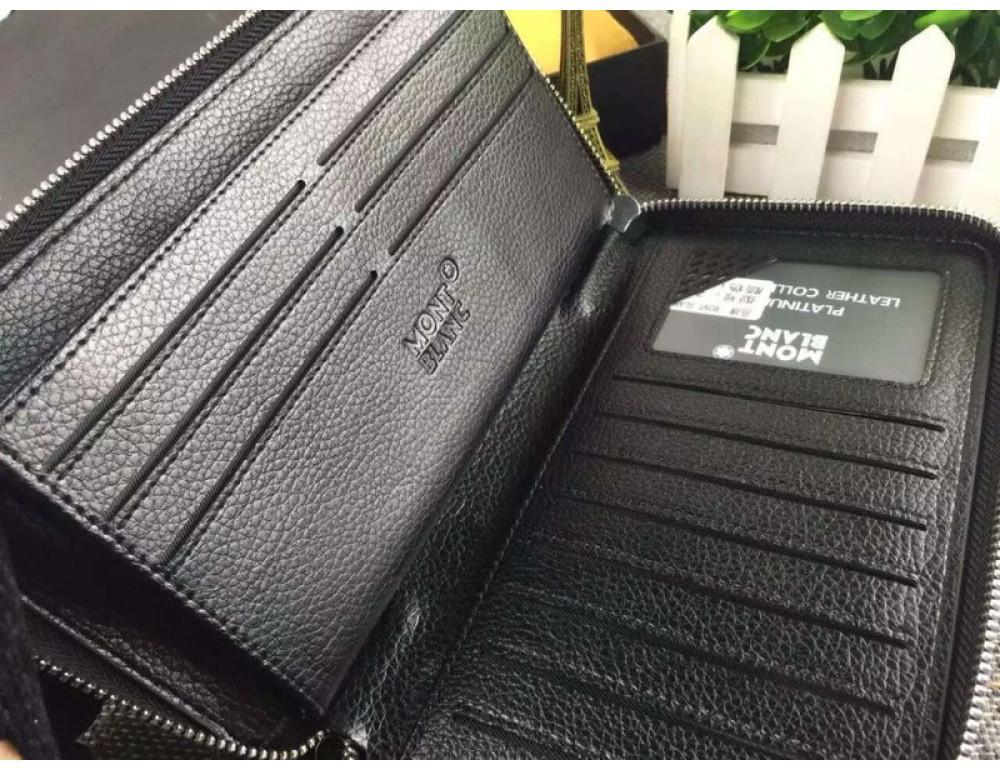 Кожаный клатч Montblanc Wallet4-2664 - Фото № 6