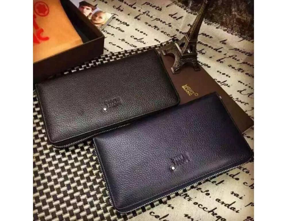 Кожаный клатч Montblanc Wallet4-2664 - Фото № 7