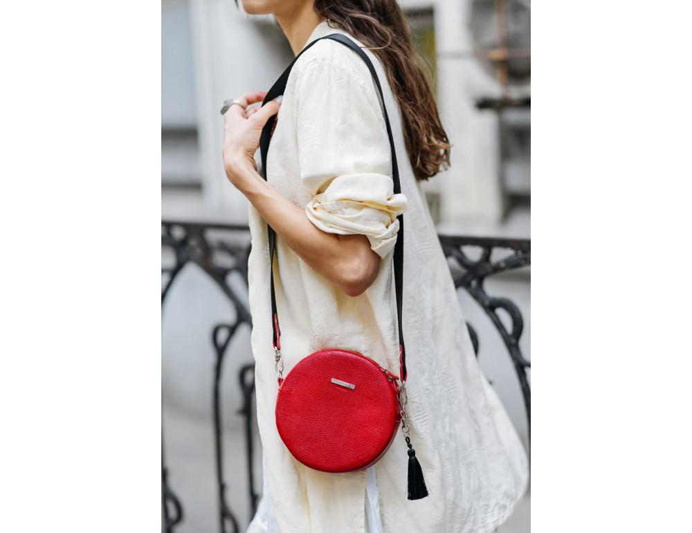 Женская круглая сумочка Tablet BN-BAG-23-rubin красная