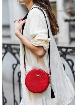 Жіноча кругла сумочка Tablet BN-BAG-23-rubin червона
