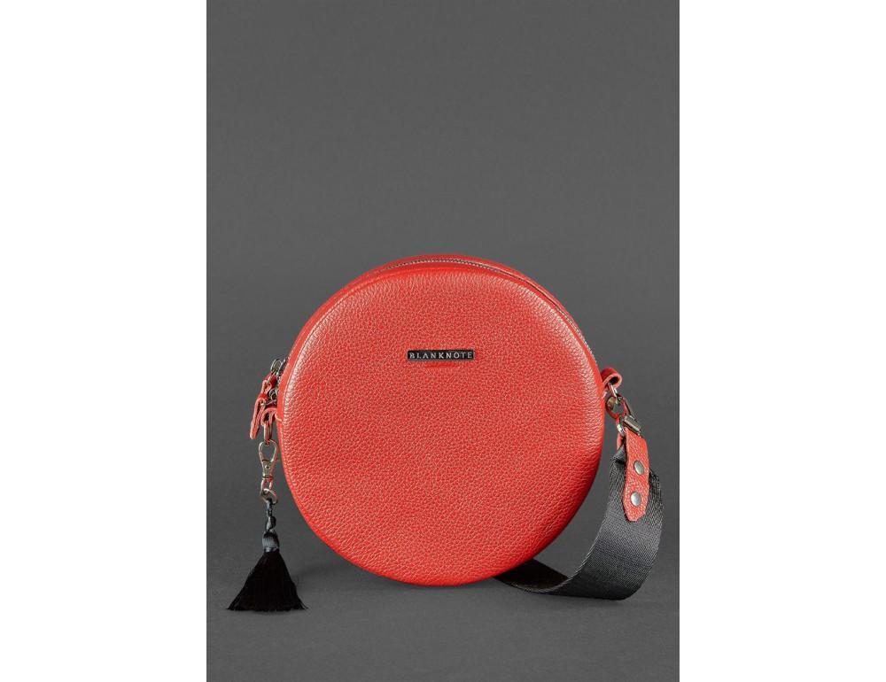 Женская круглая сумочка Tablet BN-BAG-23-rubin красная - Фото № 2