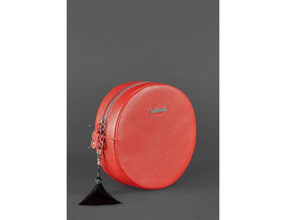 Женская круглая сумочка Tablet BN-BAG-23-rubin красная - Фото № 3