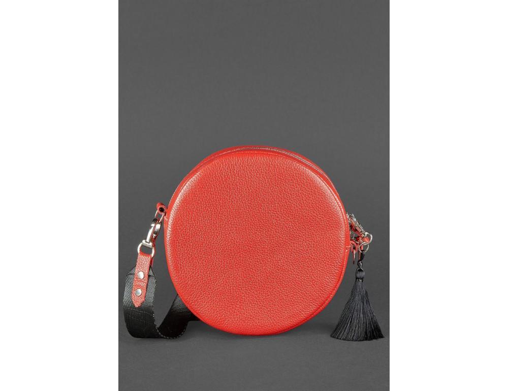 Женская круглая сумочка Tablet BN-BAG-23-rubin красная - Фото № 4