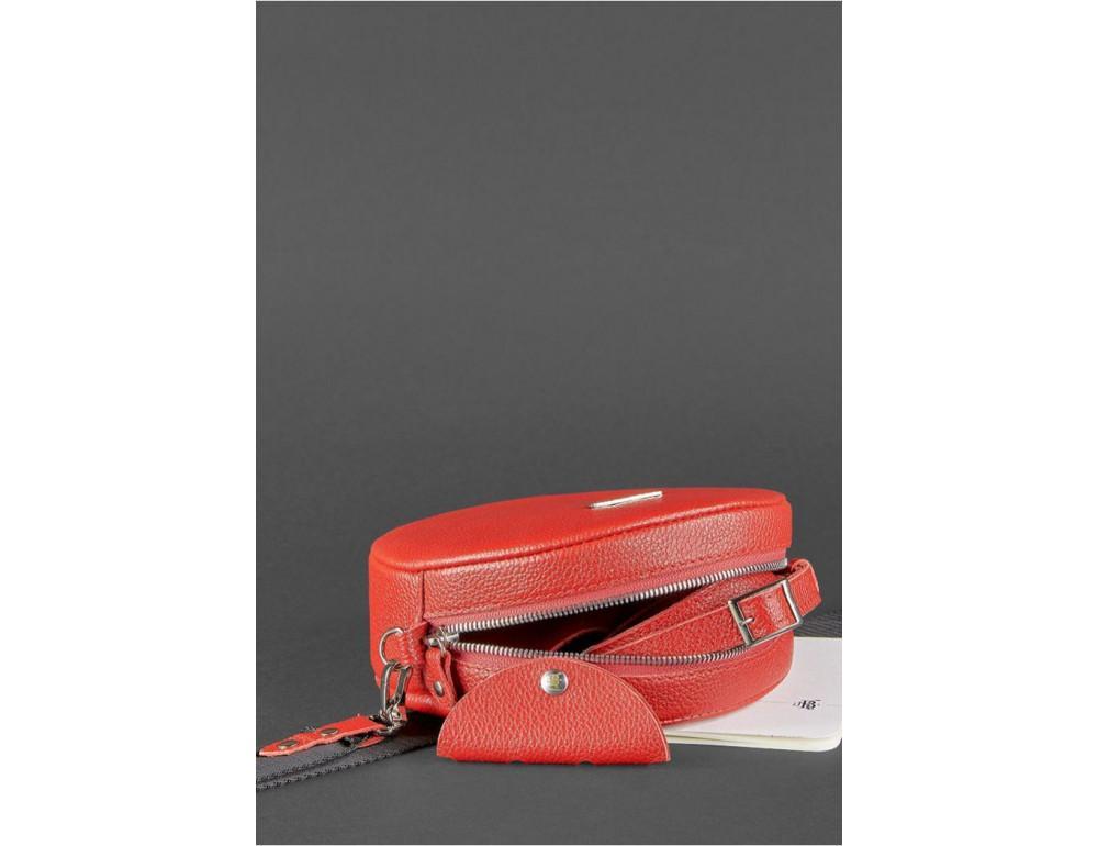 Женская круглая сумочка Tablet BN-BAG-23-rubin красная - Фото № 5