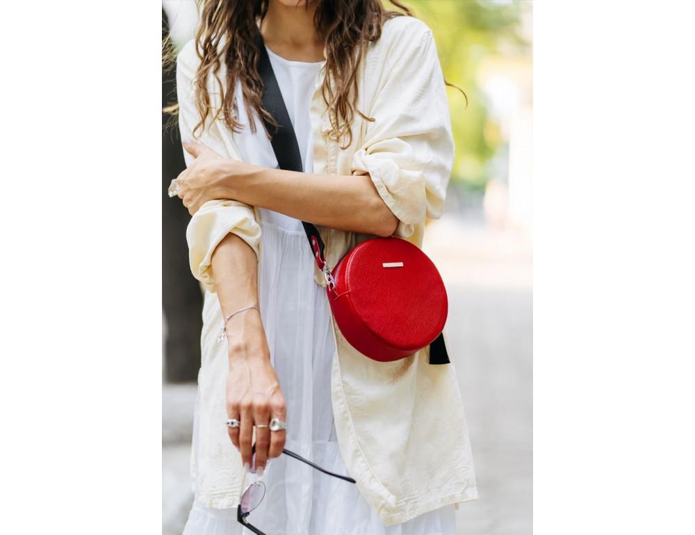 Женская круглая сумочка Tablet BN-BAG-23-rubin красная - Фото № 6