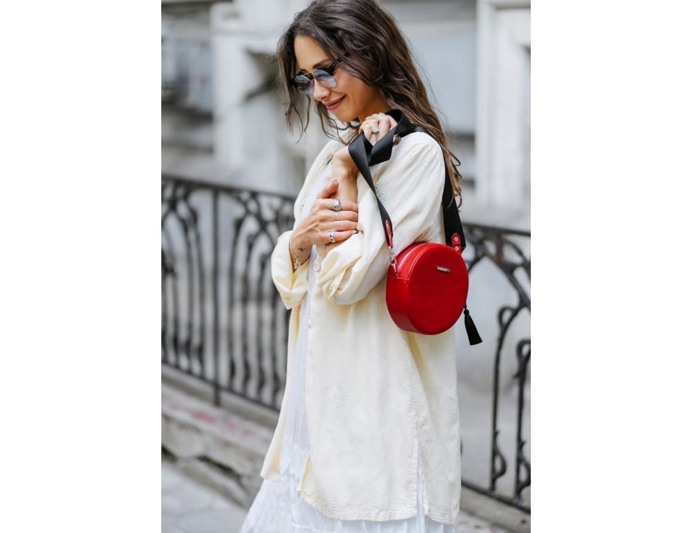 Женская круглая сумочка Tablet BN-BAG-23-rubin красная - Фото № 7