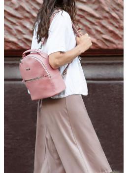 Женский кожаный мини-рюкзак Kylie BN-BAG-22-barbi пудра