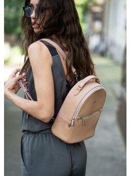 Женский кожаный мини-сумка-рюкзак Kylie BN-BAG-22-crem-brule бежевый