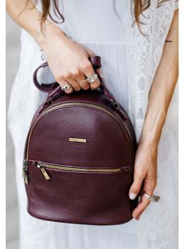 Женский кожаный мини-сумка-рюкзак Kylie BN-BAG-22-marsala Марсала