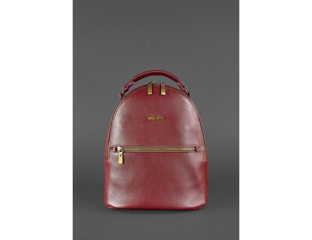 Женский кожаный мини-сумка-рюкзак Kylie BN-BAG-22-marsala Марсала - Фото № 2