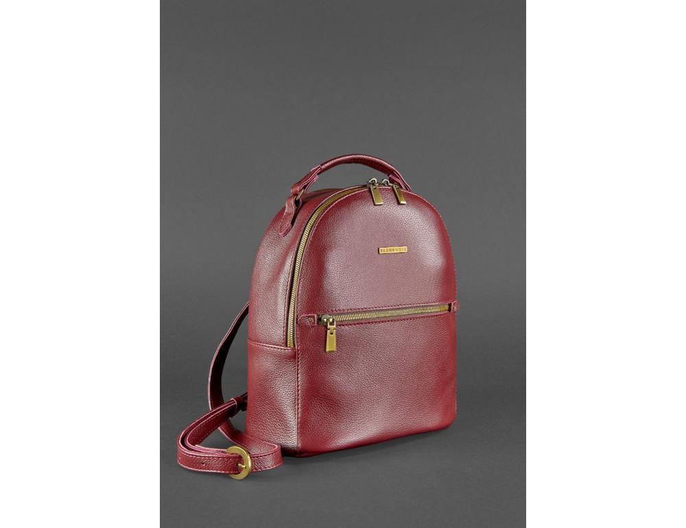 Женский кожаный мини-сумка-рюкзак Kylie BN-BAG-22-marsala Марсала - Фото № 3