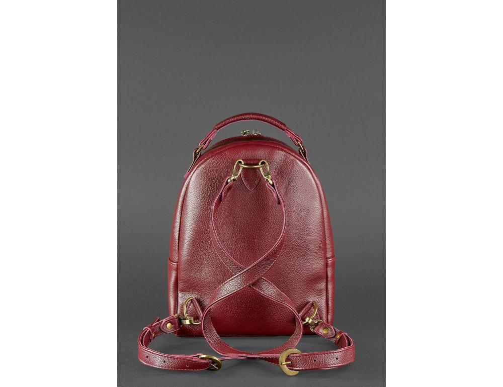 Женский кожаный мини-сумка-рюкзак Kylie BN-BAG-22-marsala Марсала - Фото № 4