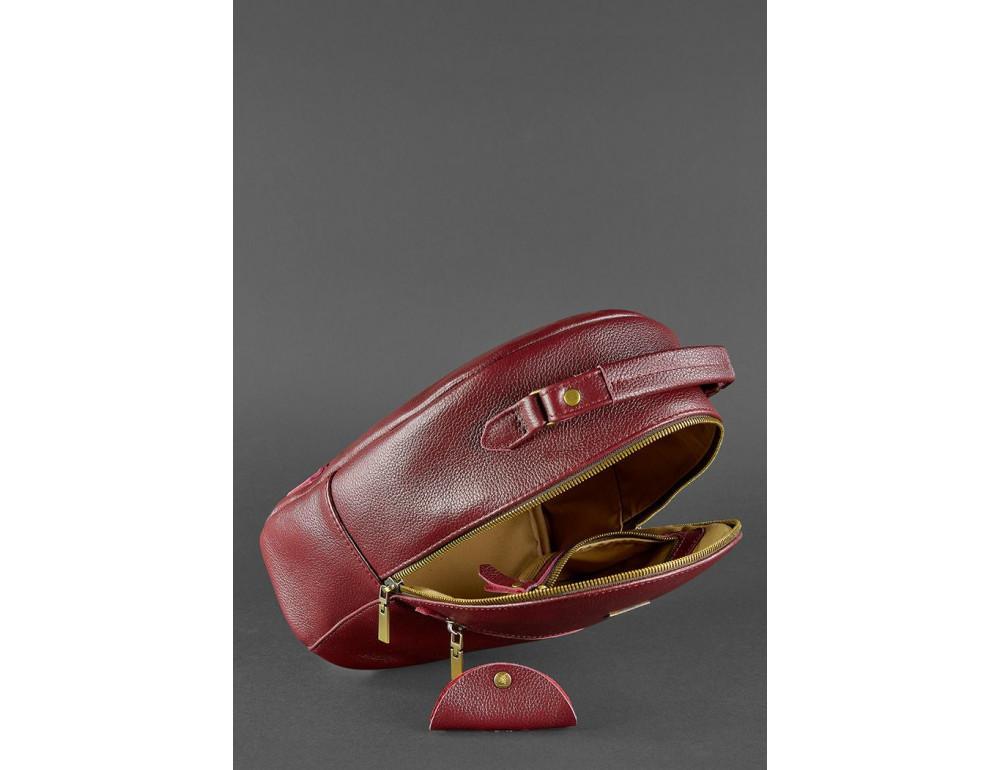 Женский кожаный мини-сумка-рюкзак Kylie BN-BAG-22-marsala Марсала - Фото № 5