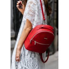 Жіночий шкіряний міні-сумка-рюкзак Kylie BN-BAG-22-rubin червоний