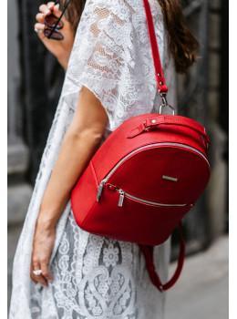 Женский кожаный мини-сумка-рюкзак Kylie BN-BAG-22-rubin красный