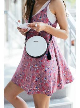 Женская круглая сумочка Tablet BN-BAG-23-day-night черно-белая