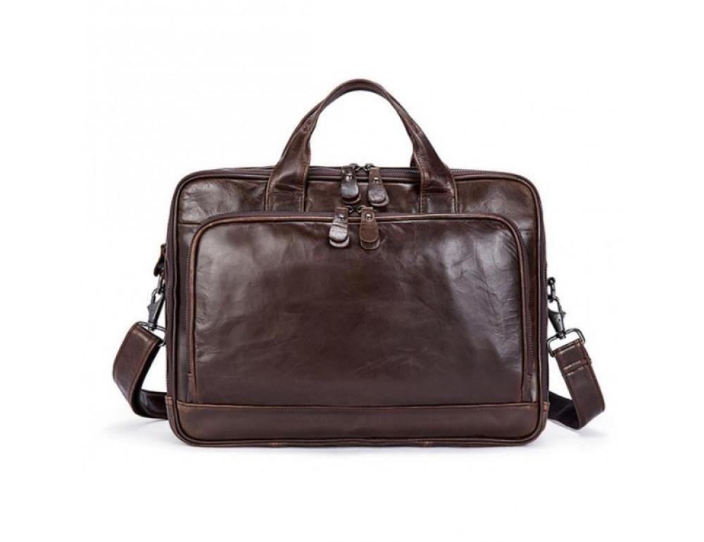 Мужская кожаная сумка JASPER-MAINE 7005Q  - Фото № 3