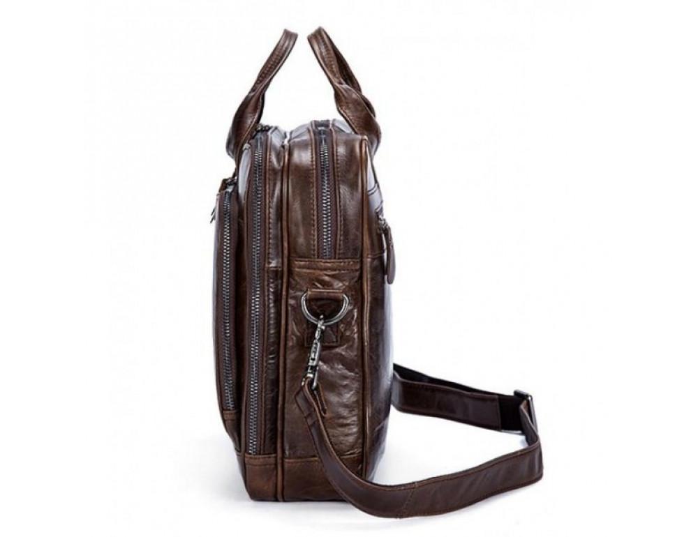 Мужская кожаная сумка JASPER-MAINE 7005Q  - Фото № 4