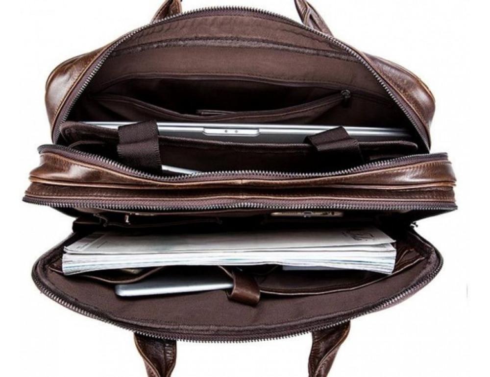 Мужская кожаная сумка JASPER-MAINE 7005Q  - Фото № 5