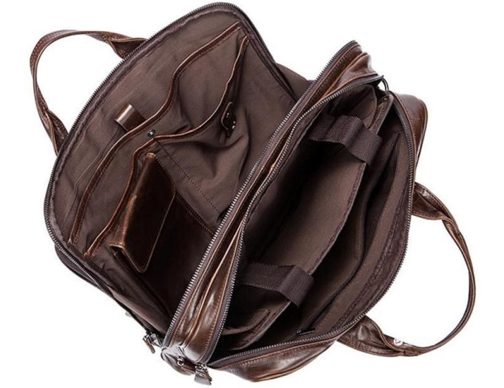Мужская кожаная сумка JASPER-MAINE 7005Q  - Фото № 6