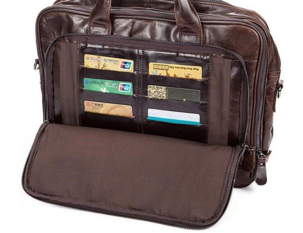 Мужская кожаная сумка JASPER-MAINE 7005Q  - Фото № 7