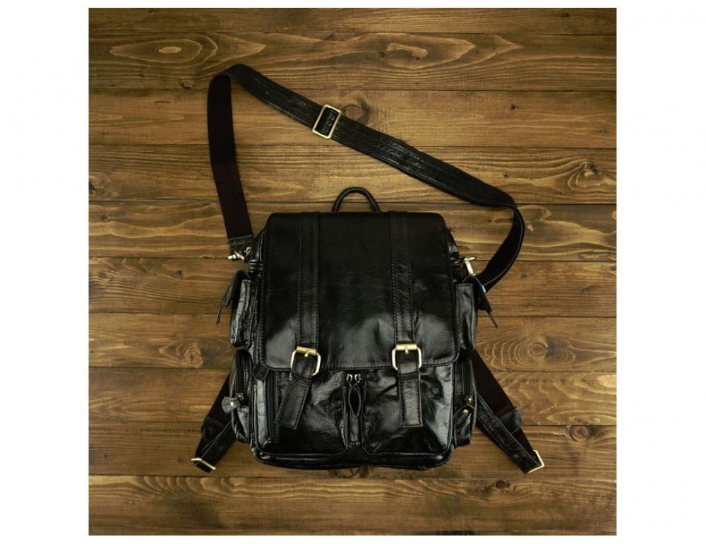 Рюкзак кожаный TIDING BAG 7123J серый - Фото № 2