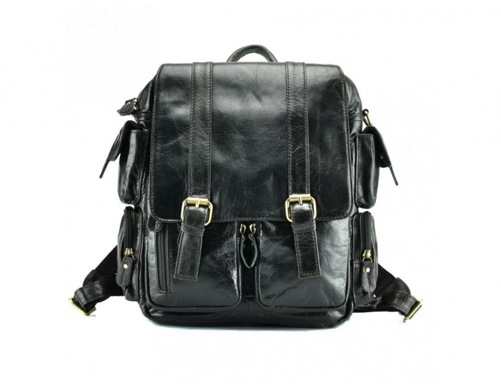 Рюкзак кожаный TIDING BAG 7123J серый - Фото № 3