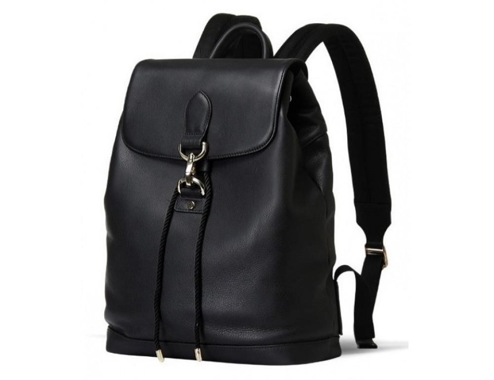 Рюкзак шкіряний Tiding Bag B3-1899A чорний