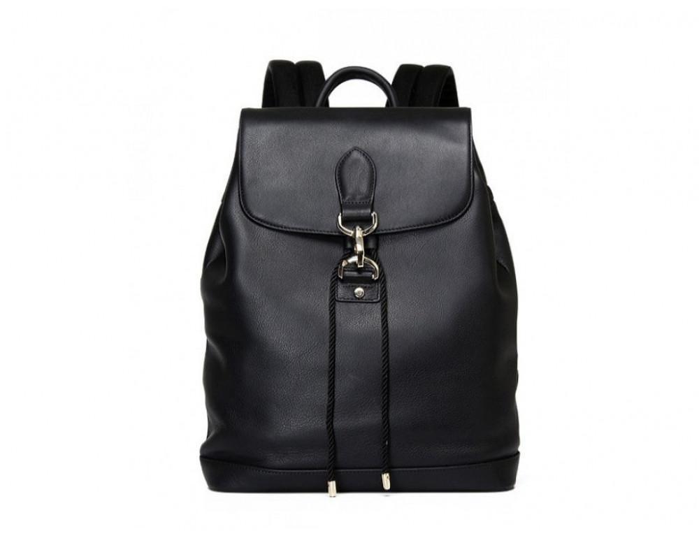 Рюкзак кожаный Tiding Bag B3-1899A чёрный - Фото № 4