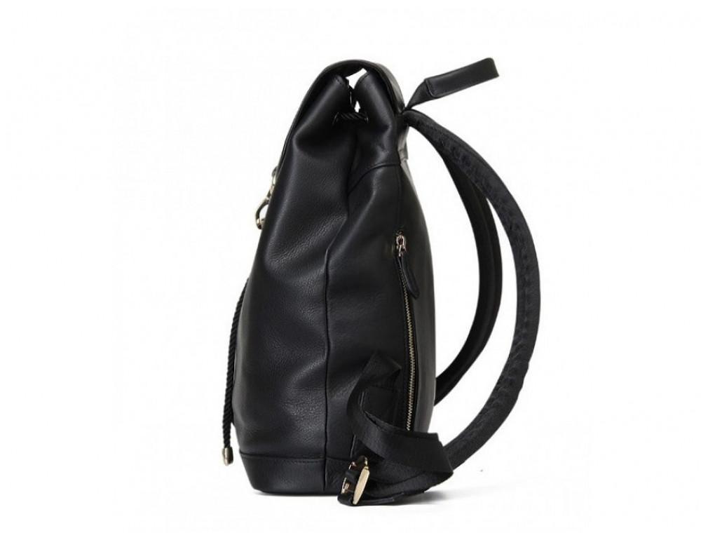 Рюкзак кожаный Tiding Bag B3-1899A чёрный - Фото № 5