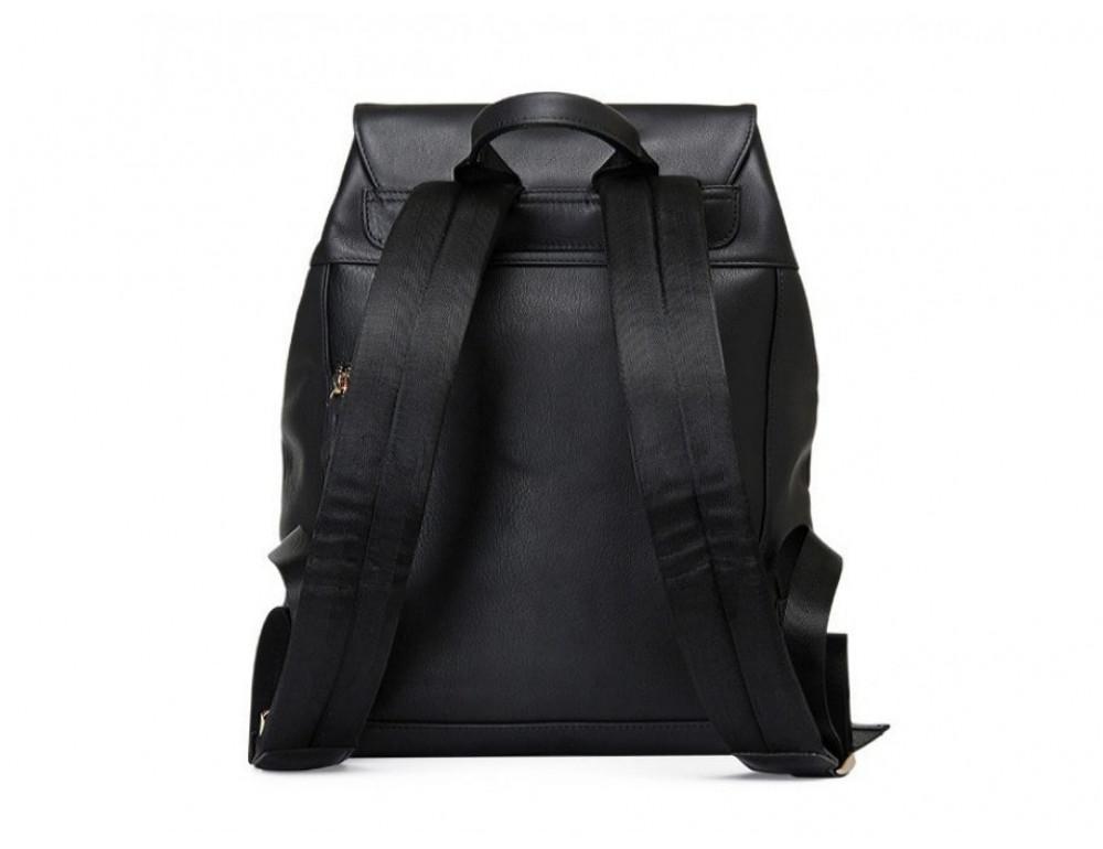 Рюкзак кожаный Tiding Bag B3-1899A чёрный - Фото № 6